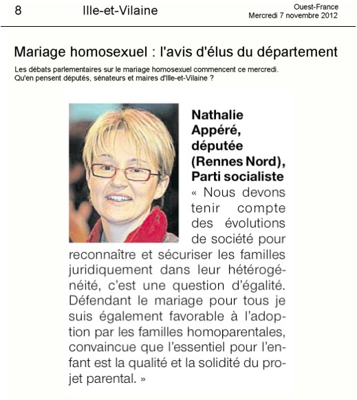 article mariage
