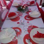 Deco table mariage rouge et blanc