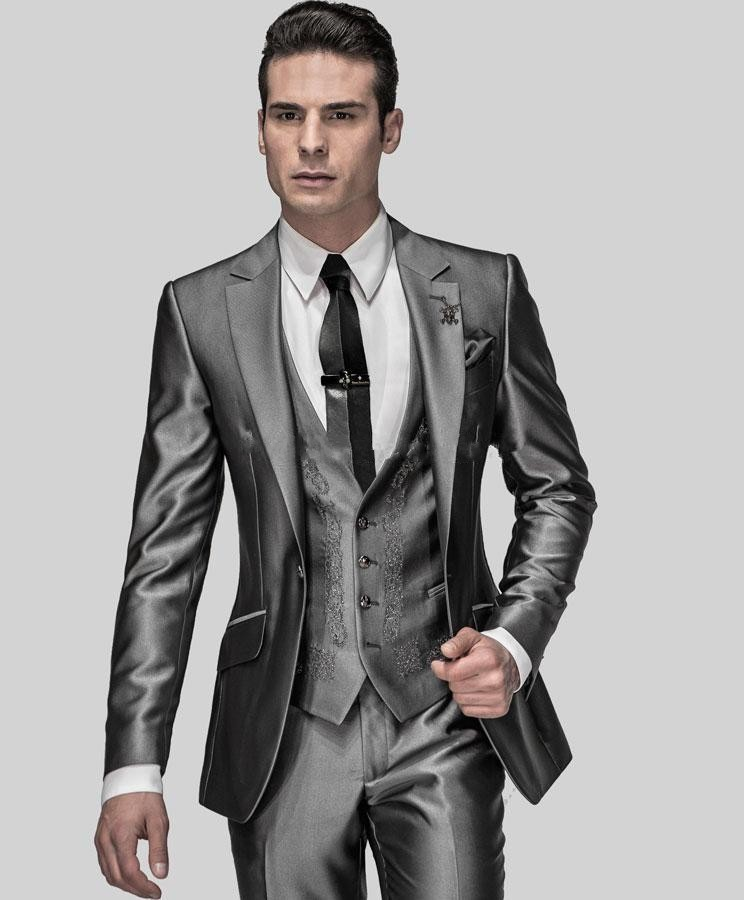 Costume homme gris brillant - Le mariage 8c1cca38c63