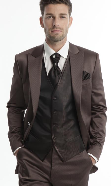 costume mariage homme marron le mariage. Black Bedroom Furniture Sets. Home Design Ideas
