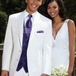 Costume de mariage blanc pour homme
