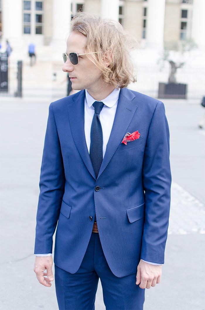 Costume bleu electrique homme le mariage - Costume bleu electrique ...