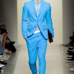 Costume homme bleu turquoise