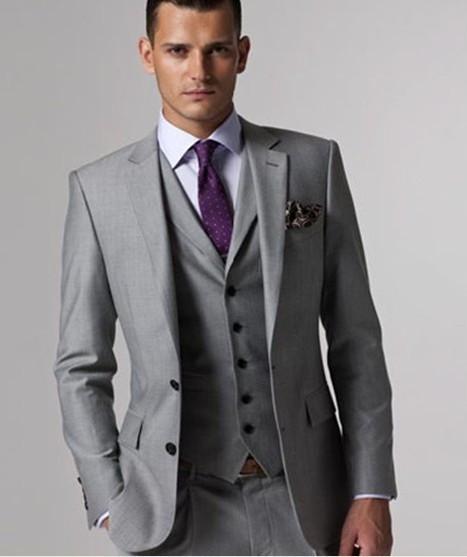 costume homme 3 pieces gris le mariage. Black Bedroom Furniture Sets. Home Design Ideas