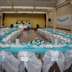 Deco mariage turquoise et blanc