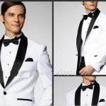 Costume noir et blanc homme