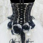 Robe de mariée blanche et noire pas cher