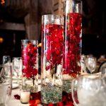 Vase deco table mariage