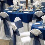 Deco mariage bleu marine et blanc