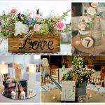 Deco table mariage vintage