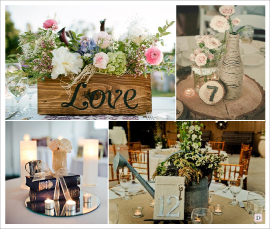 Deco table mariage vintage le mariage for Idee deco table en bois