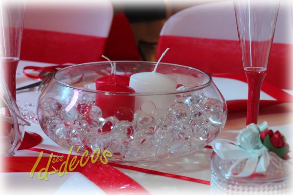 Decoration de table pour mariage rouge et blanc le mariage - Decoration de table anniversaire pas cher ...
