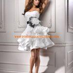 Robe de mariée courte noire et blanche