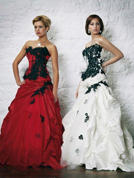 robe mariage rouge et noir. Black Bedroom Furniture Sets. Home Design Ideas