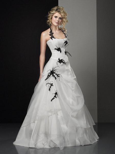 59956830e18 Je veux voir les robes de mariage pas cher Robe mariée noire et blanche