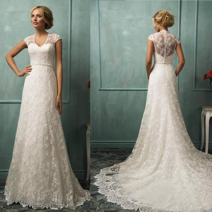 Robe fiancaille dentelle le mariage for Sangles de dentelle de robe de mariage