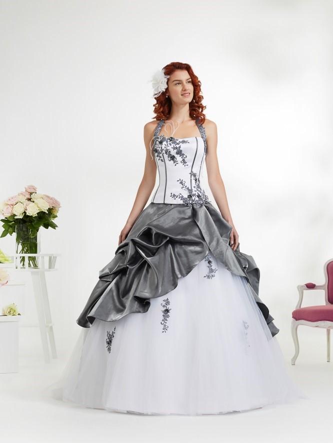 robe mariee blanche et grise le mariage With robe de mariée grise