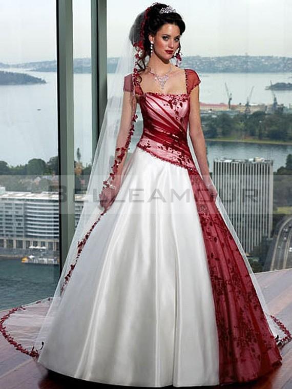 robe de mari e blanche et rouge le mariage. Black Bedroom Furniture Sets. Home Design Ideas