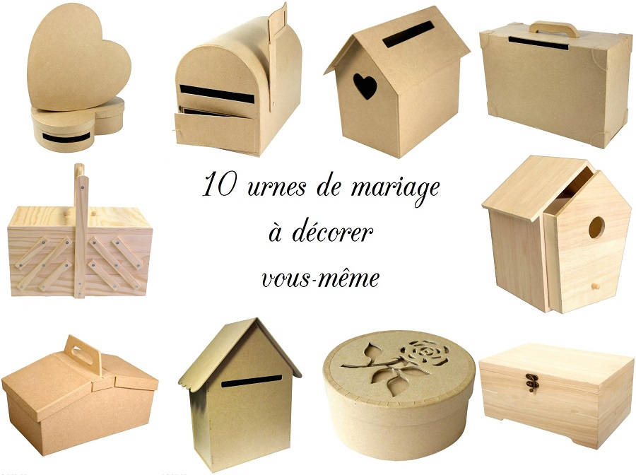 boite pour urne le mariage. Black Bedroom Furniture Sets. Home Design Ideas