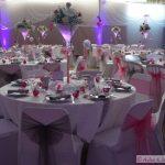 Decoration mariage argent et fushia