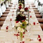 Deco de table mariage rouge et blanc