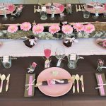 Deco table rose