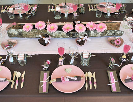 deco table rose le mariage. Black Bedroom Furniture Sets. Home Design Ideas
