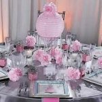 Deco table mariage rose