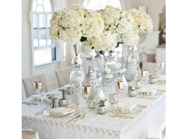 Deco mariage blanc et or Le mariage