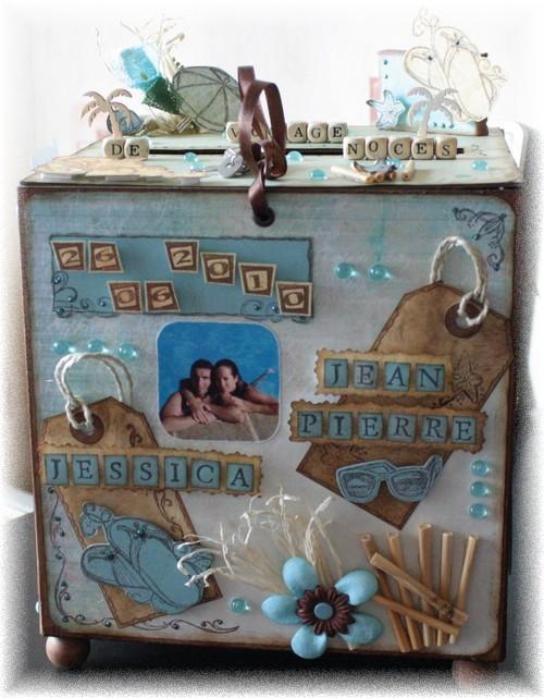 Populaire Boite Originale Pour Cagnotte #14: Boite-mariage-urne-pour  DL93
