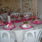 Deco de table mariage fushia