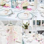 Decoration de table mariage rose et blanc