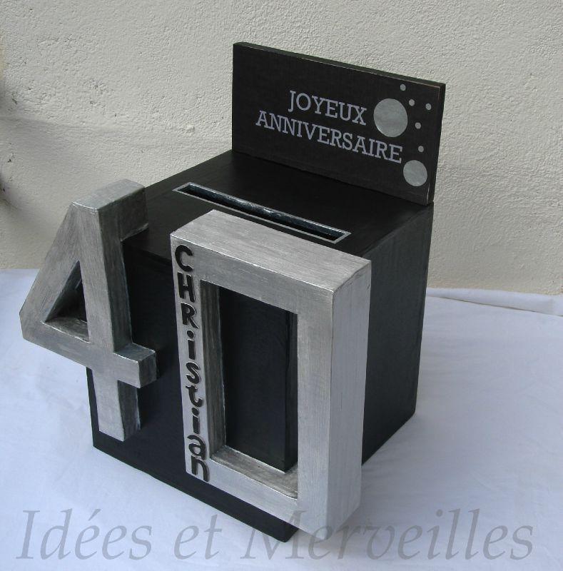 Complet Charmant Deco Boite Pour Anniversaire #8: Idée Boite Cagnotte  CX17
