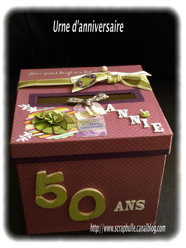 Boite urne anniversaire le mariage - Anniversaire mariage 4 ans ...