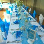 Deco mariage blanc et turquoise
