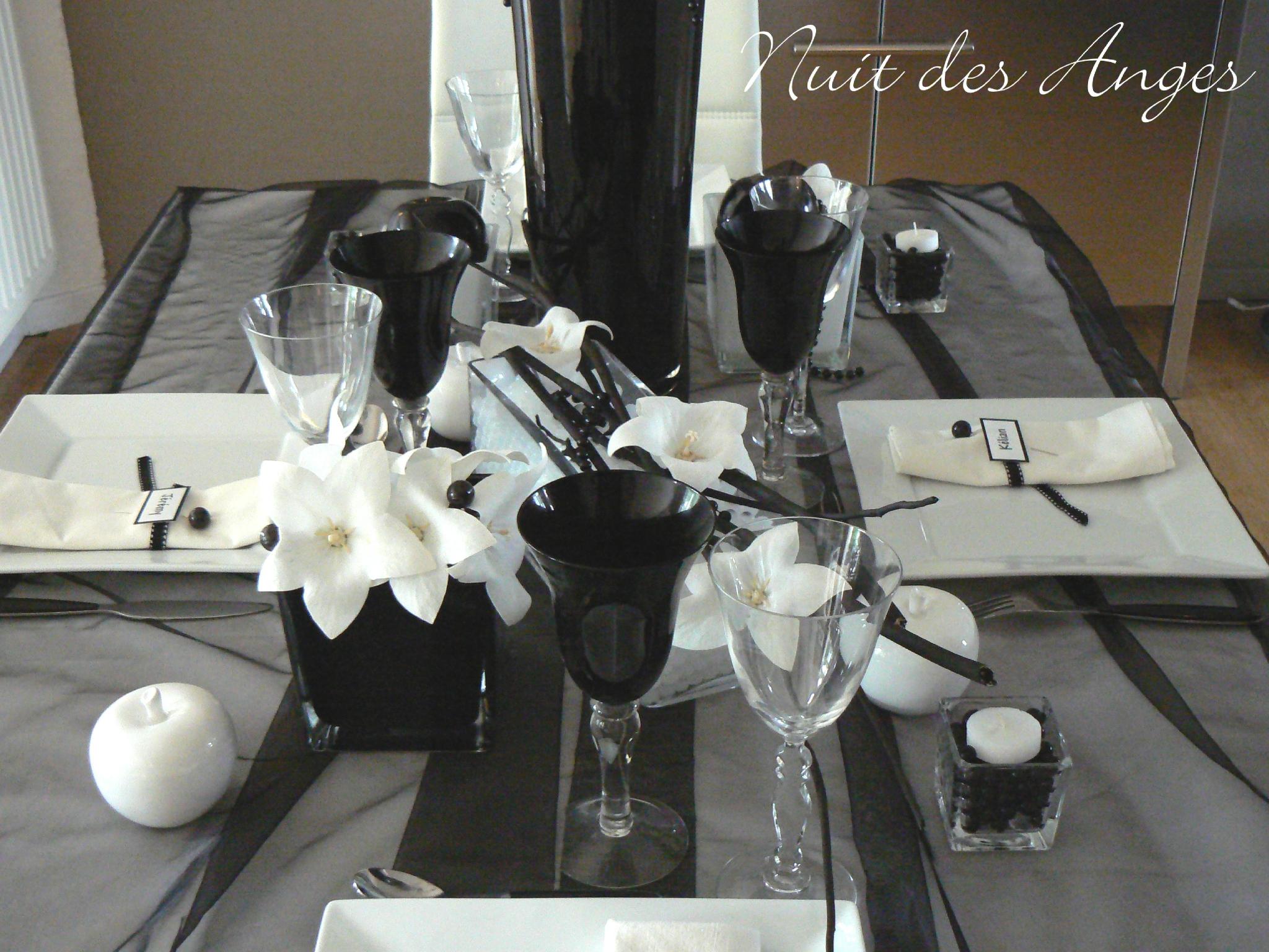 Deco mariage noir et blanc pas cher - Deco de table noir et blanc pas cher ...
