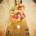 Deco mariage rose et doré