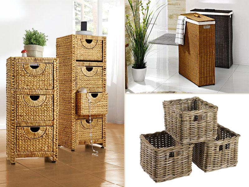 panier de rangement en osier pour salle de bain le mariage. Black Bedroom Furniture Sets. Home Design Ideas
