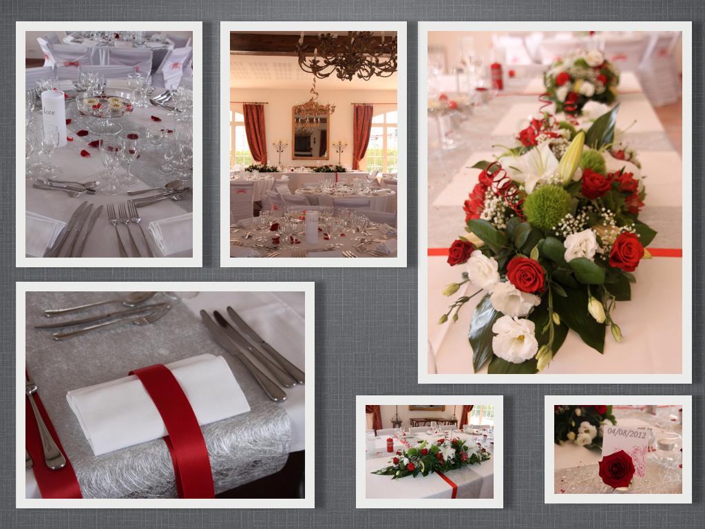 Decoration mariage rouge blanc et argent le mariage - Decoration mariage rouge et blanc ...