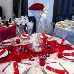Deco mariage rouge et blanc pas cher