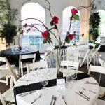 Centre de table mariage noir et blanc