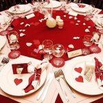 Decoration mariage rouge et doré