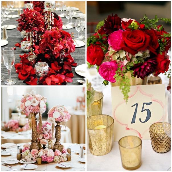 D coration mariage rouge et or le mariage - Decoration fete de fiancaille ...