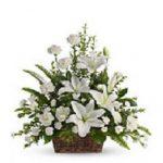 Corbeille de mariage fleurs