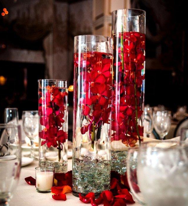 Vase deco table mariage le mariage - Decoration de vase pour mariage ...