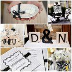 Deco mariage blanc et noir