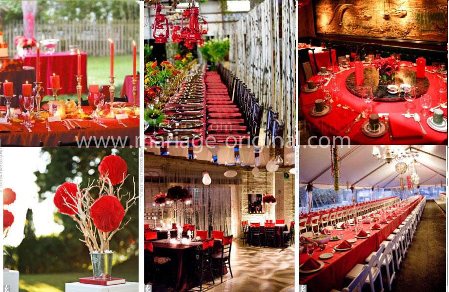 Deco rouge et blanc pour mariage le mariage - Decoration salle mariage rouge et blanc ...