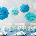 Decoration mariage bleu turquoise