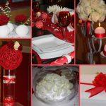 Deco mariage rouge blanc argent