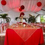 Deco rouge et blanc pour mariage